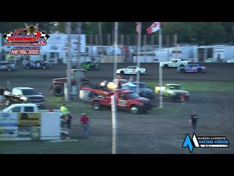River Cities Speedway WISSOTA Street Stock A-Main (7/8/21) - dirt track racing video image