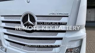 Sostituzione pila chiave Mercedes ACTROS