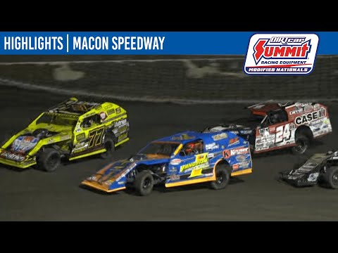 DIRTcar Summit Modifieds Macon Speedway July 8, 2021   HIGHLIGHTS - dirt track racing video image