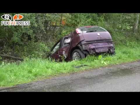 Auto raakt van de weg in Veendam en beland in sloot