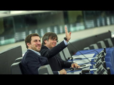 Catalan separatist leaders take up MEP seats in blow to Madrid photo