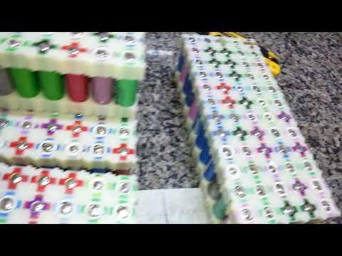 Montagem dos packs das baterias de Lítio - Parte 2