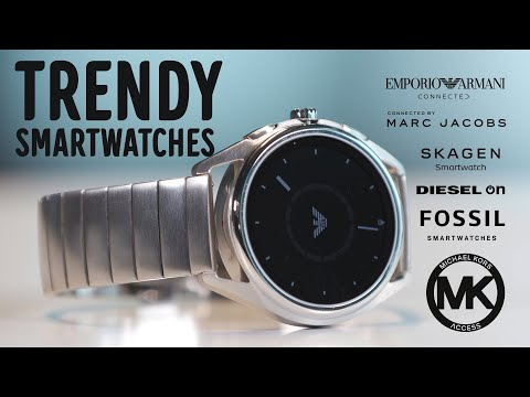 Trendy Smartklokker - Marc Jacobs, Michael Kors, Armani, Skagen, Diesel, Fossil Q