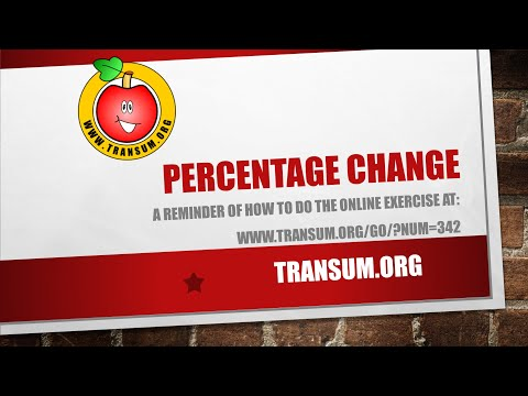 Percentage Change video