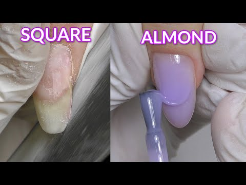 Square to Almond Nails & Color Builder Gels Review
