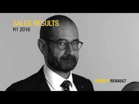 Groupe Renault: H1 2016 Worldwide Sales Results