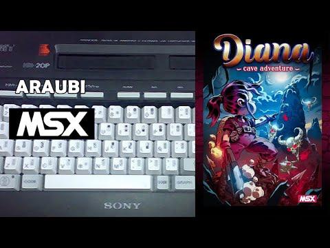 Diana's Cave Adventure (Oniric Factor, 2020) MSX [798] Walkthrough Comentado
