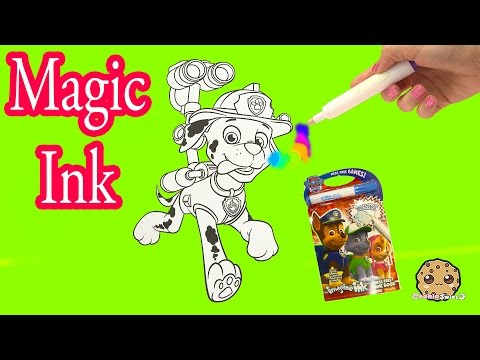 Paw Patrol  Imagine Rainbow Ink Book with Surprise Color Pictures Cookieswirlc Video - UCelMeixAOTs2OQAAi9wU8-g