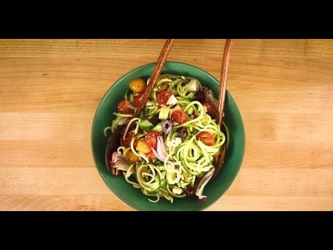 Vegetarian Side Dish Recipes - How to Make Greek Zoodle Salad