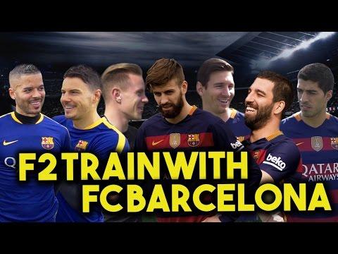 F2 TRAIN WITH FC BARCELONA - MESSI, SUAREZ, PIQUE, TURAN & TER STEGEN! Learn the Barça Way with Beko - UCKvn9VBLAiLiYL4FFJHri6g