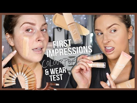 """natural"""" FIRST IMPRESSIONS ? colourpop pretty fresh tinted moisturizer & concealer!"""