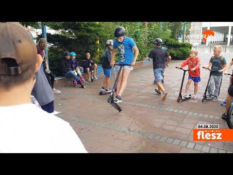 Flesz Gliwice / Policyjna akcja na skateparkach
