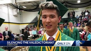 Valedictorian says school banned commencement speech because he's gay