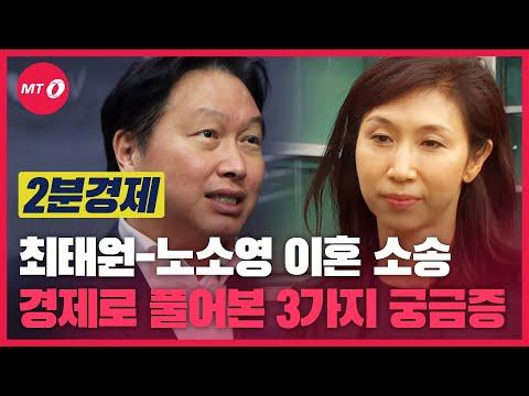 [2분경제]최태원-노소영 이혼 소송, 경제로 풀어보는 3가지 궁금...