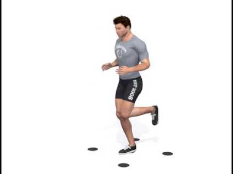 KOMPAN - Agility Dots - Single Leg Jumps
