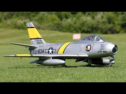 Freewing F-86 Sabre 80mm EDF Review - Part 1, Intro and Flight - UCDHViOZr2DWy69t1a9G6K9A