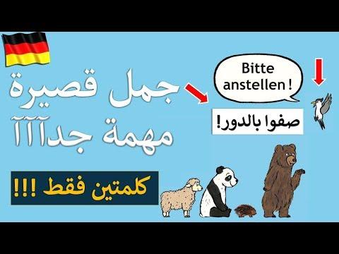 تعلم الماني بسرعة اهم 130 جملة قصيرة  - تعلم اللغة الالمانية