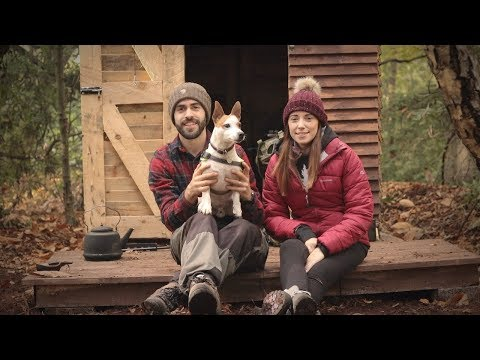 Her First Time at the Cabin: Woodstove Cooking (Off Grid Pallet Wood Cabin)
