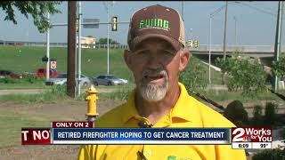 Retired Firefighter hoping to get cancer treatment
