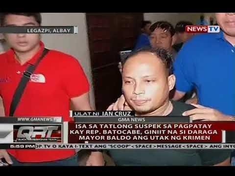 Isa sa 3 suspek sa pagpatay kay Rep. Batocabe, giniit na si Daraga Mayor Baldo ang utak ng krimen