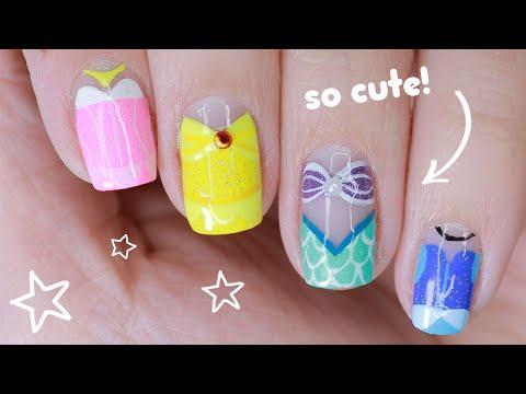 ✨ Magical (& Classic!) Disney Princess Nail Art Tutorial ✨