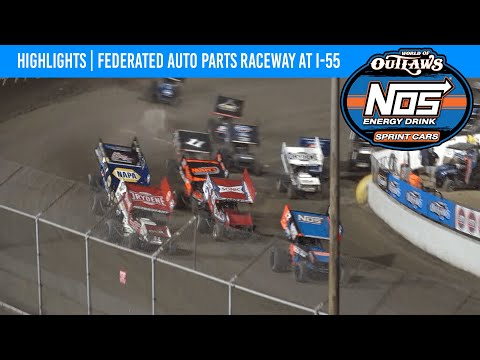 World of Outlaws NOS Energy Drink Sprint Cars Federated Auto Parts Raceway at I-55, August 6, 2021 - dirt track racing video image