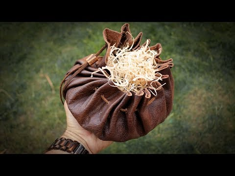 Make a Leather Tinder Pouch | Bushcraft Kit (Tutorial)