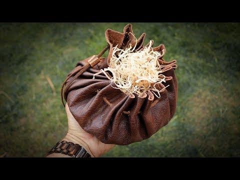 Make a Leather Tinder Pouch | Bushcraft Kit (Tutorial)