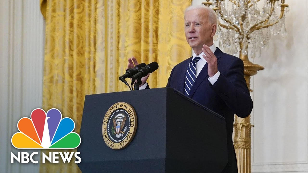 Biden Stresses He Was Hired To 'Solve Problems' In First Press Conference | NBC News