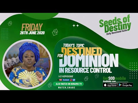 Dr Becky Paul-Enenche - SEEDS OF DESTINY  FRIDAY JUNE 26, 2020