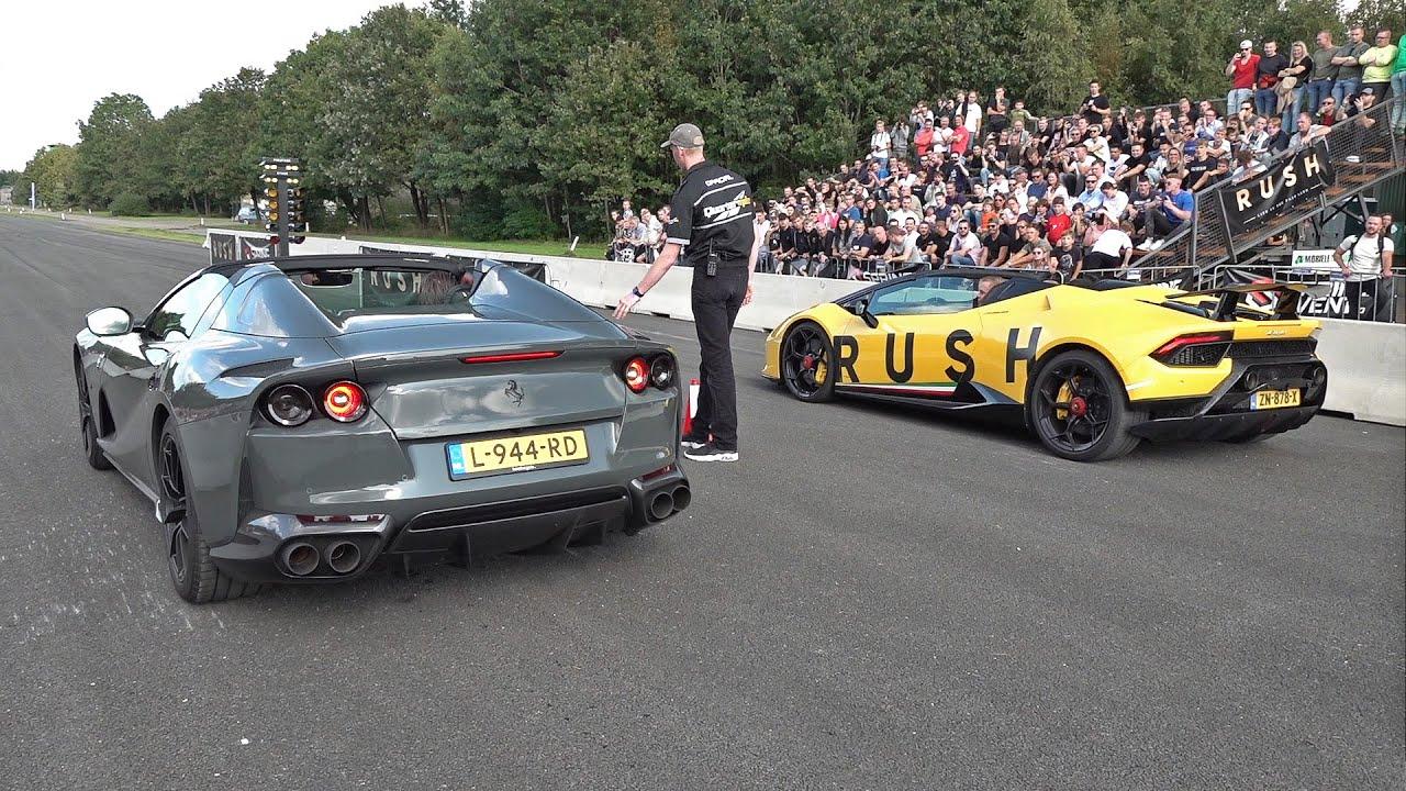 Ferrari 812 GTS vs Lamborghini Huracán Performante Spyder