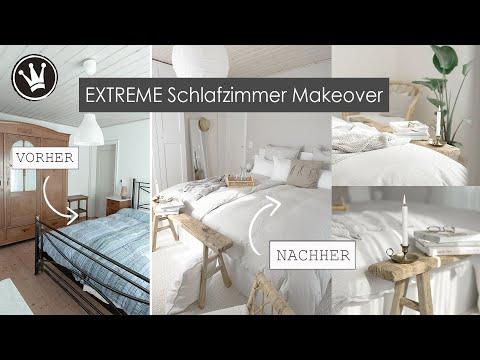EXTREME Schlafzimmer MAKEOVER | Schlafzimmer komplett umgestalten- hell & gemütlich | DekoideenReich