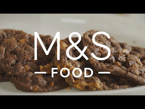 marksandspencer.com & Marks and Spencer Promo Code video: Chris' Macmillan Peanut Butter Chocolate Cookies   M&S FOOD