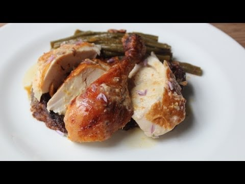 Million Dollar Chicken - Roast Chicken with Creme Fraiche, Shallot, Lemon, & Aleppo Pepper Glaze