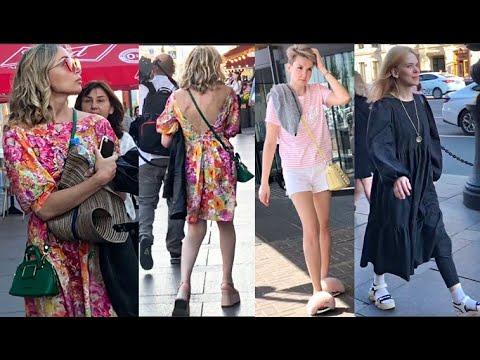 Как оголились и приоделись модницы Петербурга Стрит стайл Что модно летом Как одеваются россиянки
