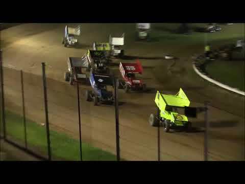 Ohio Valley Sprint Car Association Feature from Atomic Speedway, August 25th, 2018. - dirt track racing video image