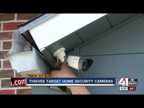 Thieves stealing security cameras in Belton, KC