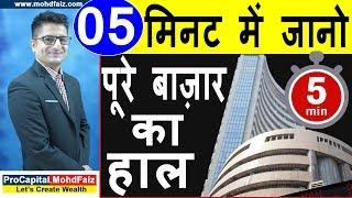 05 मिनट में जानो पूरे बाज़ार का हाल | Latest Stock Market News | Latest Share Market News In Hindi