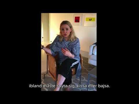 Sofia Helin berättar ett minne om mens