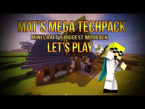 450+ Mod Modpack - Minecraft Mat's Mega Techpack Modded Survival