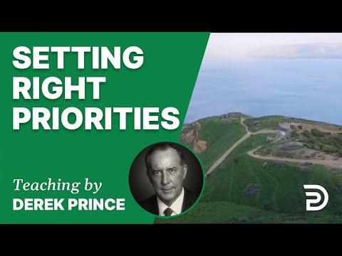 Setting Right Priorities 10/1