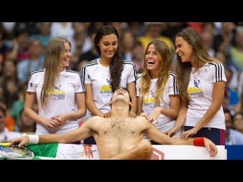 Best Of - Novak Djokovic ( Funniest Moments, danse, best point ) - UCp-vmrc_o66atbnUnjVRT9w