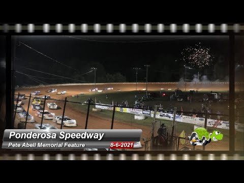 Ponderosa Speedway - Pete Abell Memorial - Super Late Model Feature - 8/6/2021 - dirt track racing video image