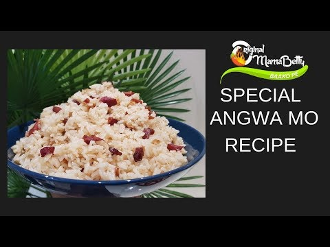 HOW TO COOK YOUR ANGWA MO (OIL RICE) USING AN ALTERNATIVE MEAT TO TOLO BEEF( CURED BEEF)