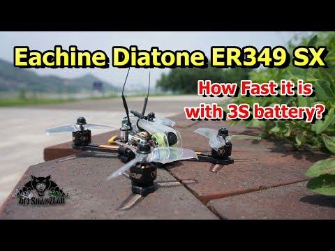 Eachine Diatone ER349 SX 3 inch FPV Racing Drone 3S Battery Flight - UCsFctXdFnbeoKpLefdEloEQ