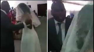 Groom's side-chick crashes the wedding and you'll never guess what she was wearing!