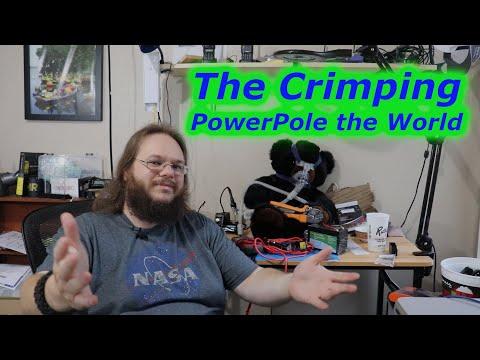 Crimper PowerPoles onto 12 Volt Extension cord