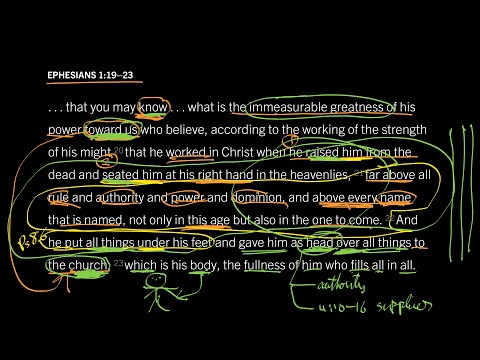 Ephesians 1:1923 // Part 4 // The Head of the Church Is the Head over All