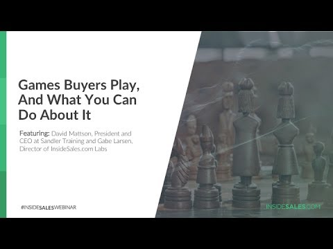 GAMES BUYERS PLAY, AND WHAT YOU CAN DO ABOUT IT -