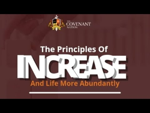 The Principles of Increase And Life More Abundantly  3rd Service  19092021